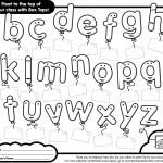 25 Tops - Alphabet Sheet